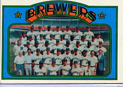 1972 Topps Baseball Cards      106     Milwaukee Brewers TC